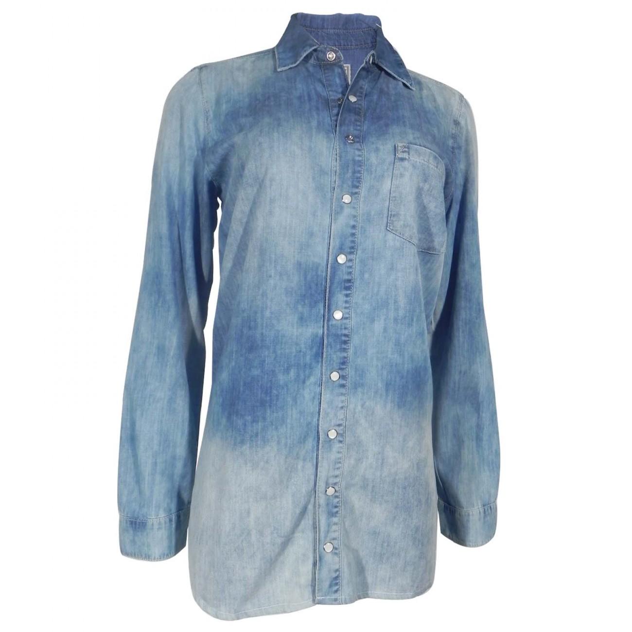 ae59a2545 Camisa Feminina de Jeans Lez a Lez - Pole Modas