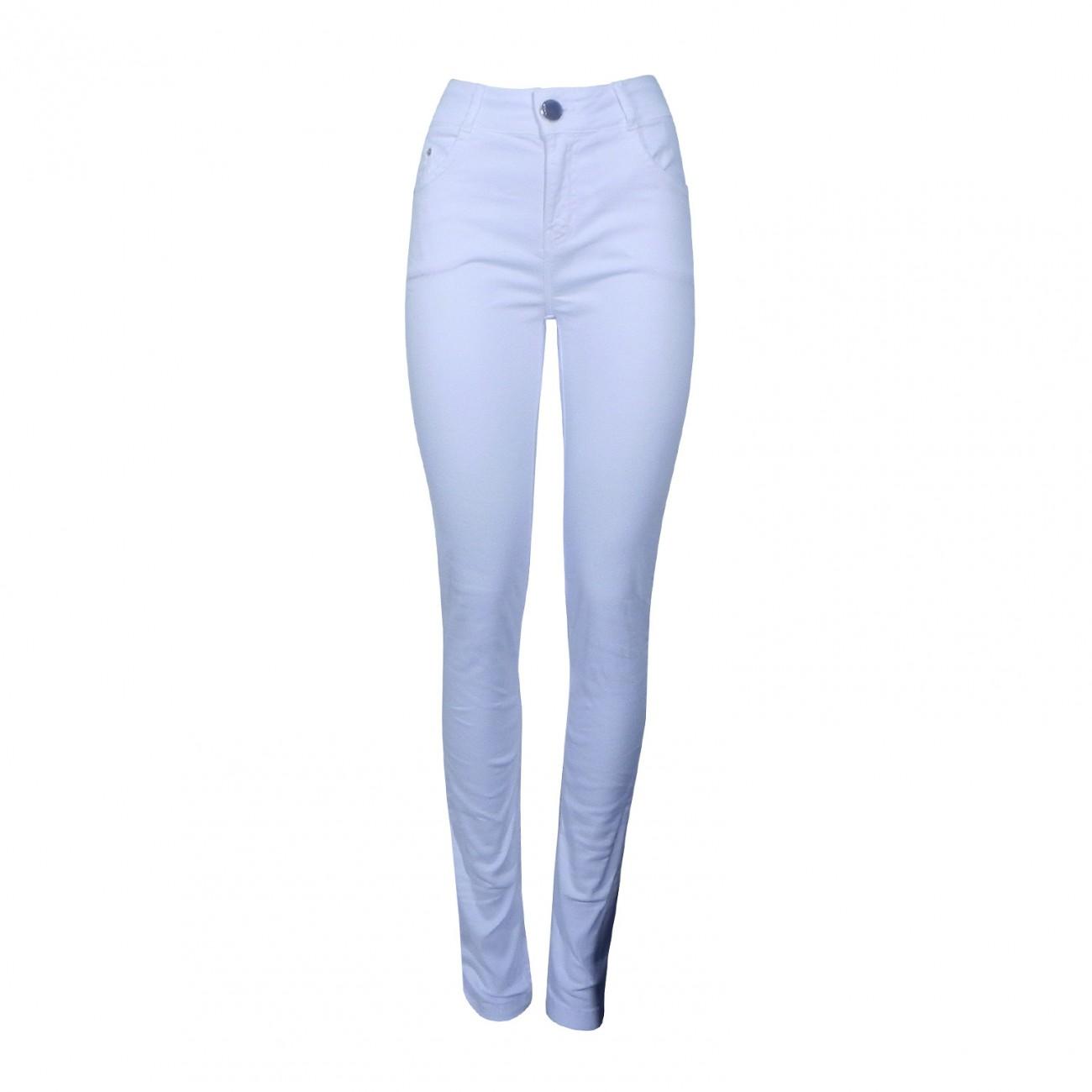 ab6379c79 Calça Jeans Color Feminina Skinny Dimy - Cor Branca