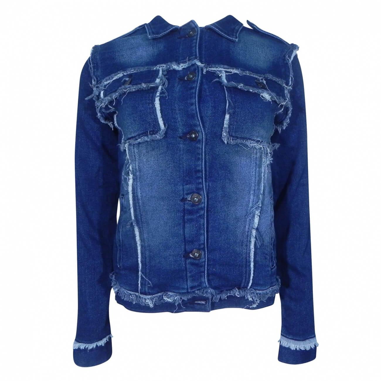 f2d30b7ab Jaqueta Jeans Moletom Lady Rock - Pole Modas