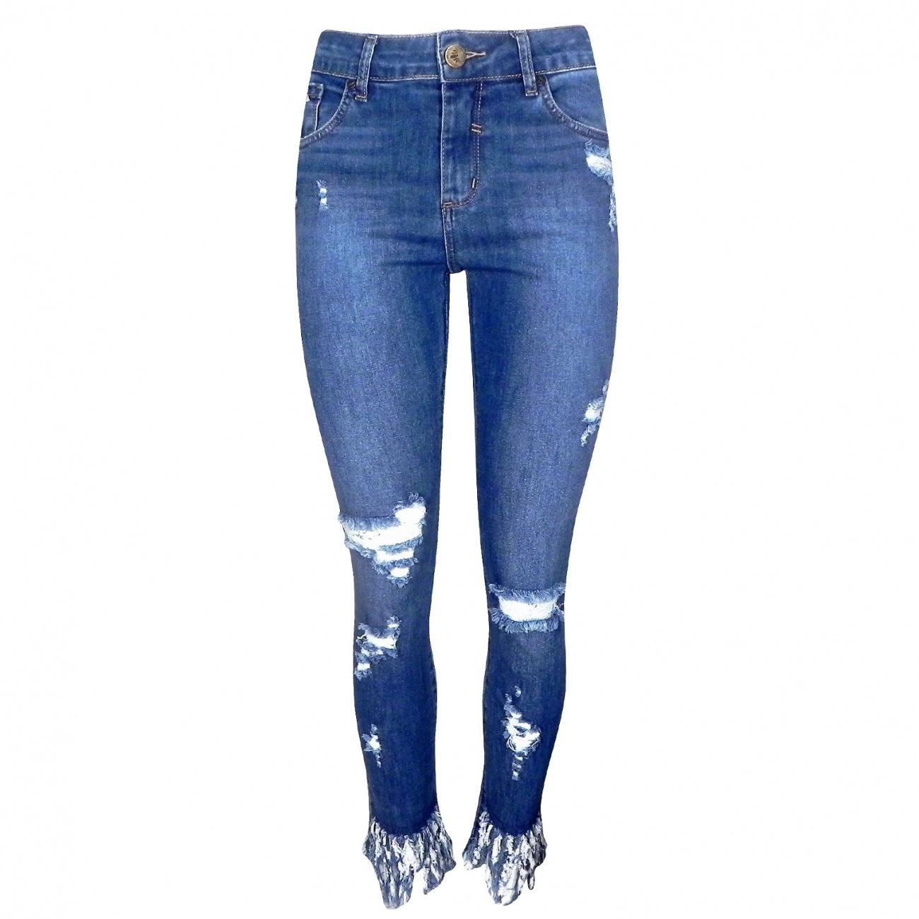 534730536 Calça Jeans Skinny Its & Co - Destroyed - Pole Modas