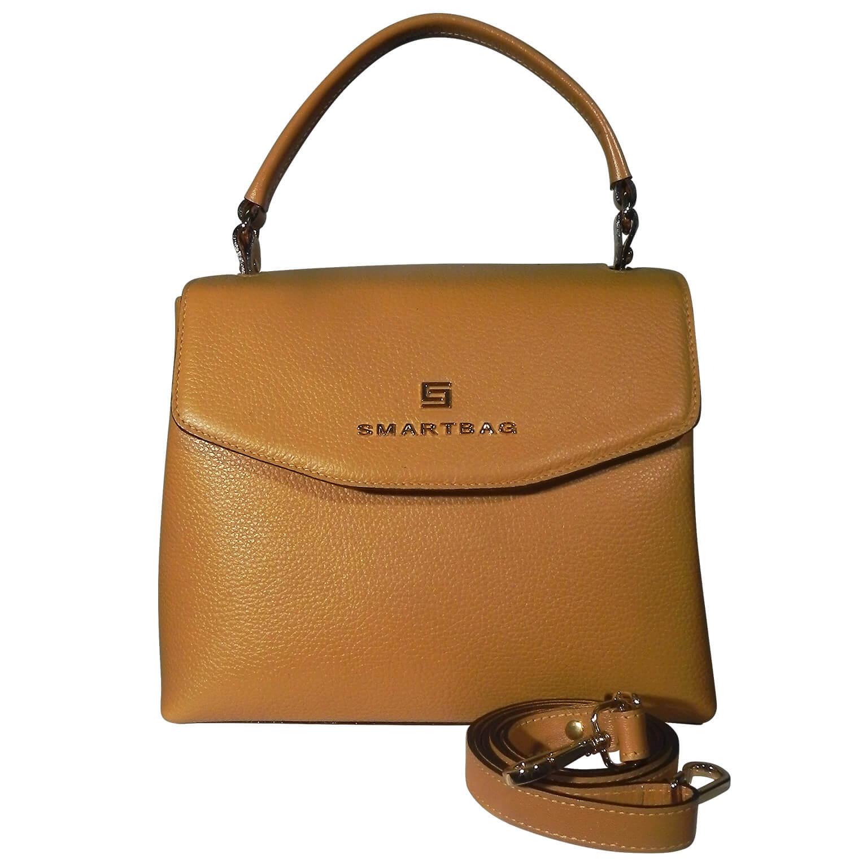 Bolsa Alça de Mão em Couro Smartbag Cor Mostarda - Pole Modas f3dad9ea0c0