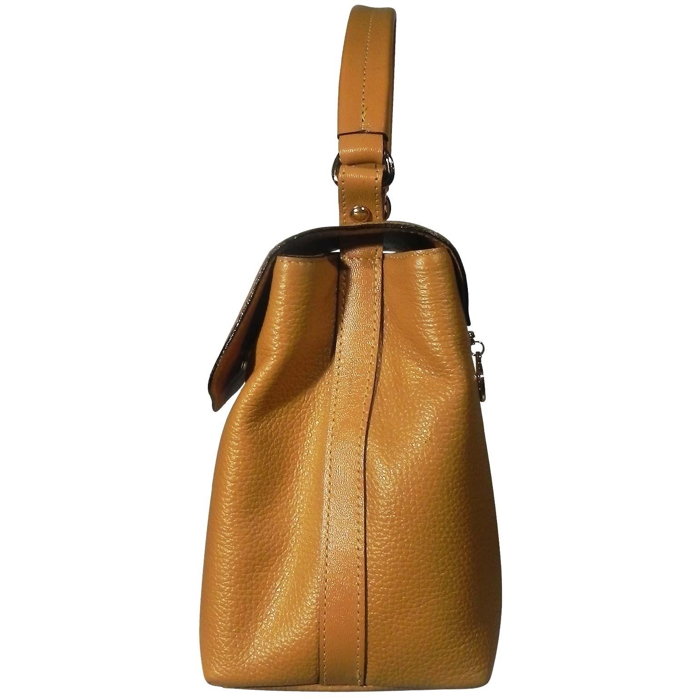 4efdccc56 Bolsa Alça de Mão em Couro Smartbag Cor Mostarda - Pole Modas