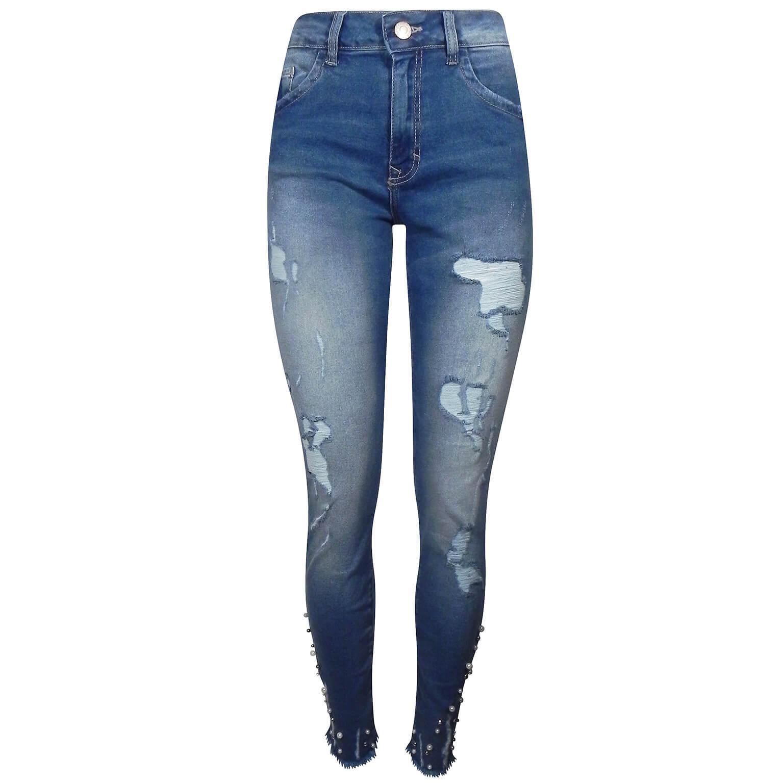 bea9b4bf5 Calça Jeans Cigarrete Destroyed Com Pérolas Bali Lez a Lez - Pole Modas
