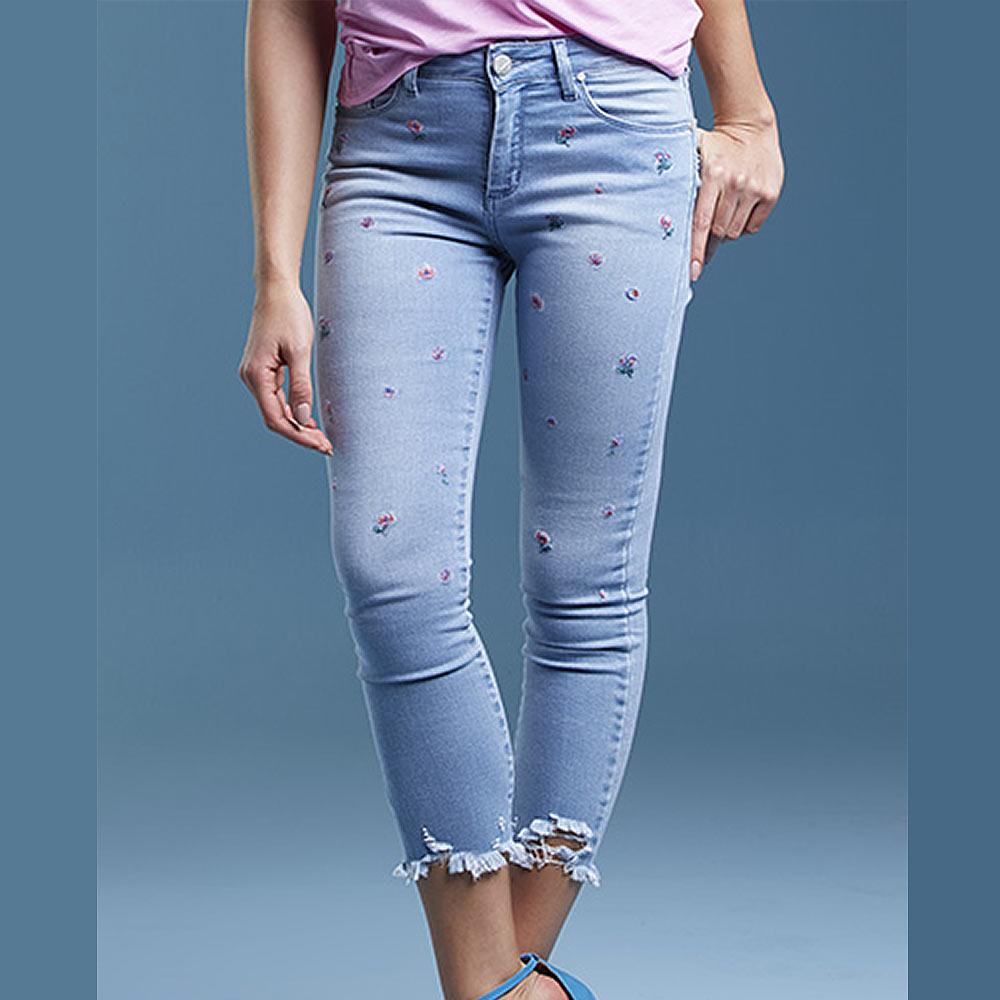 a3de4f691 Calça Jeans Bordada Skinny Its & Co - Pole Modas