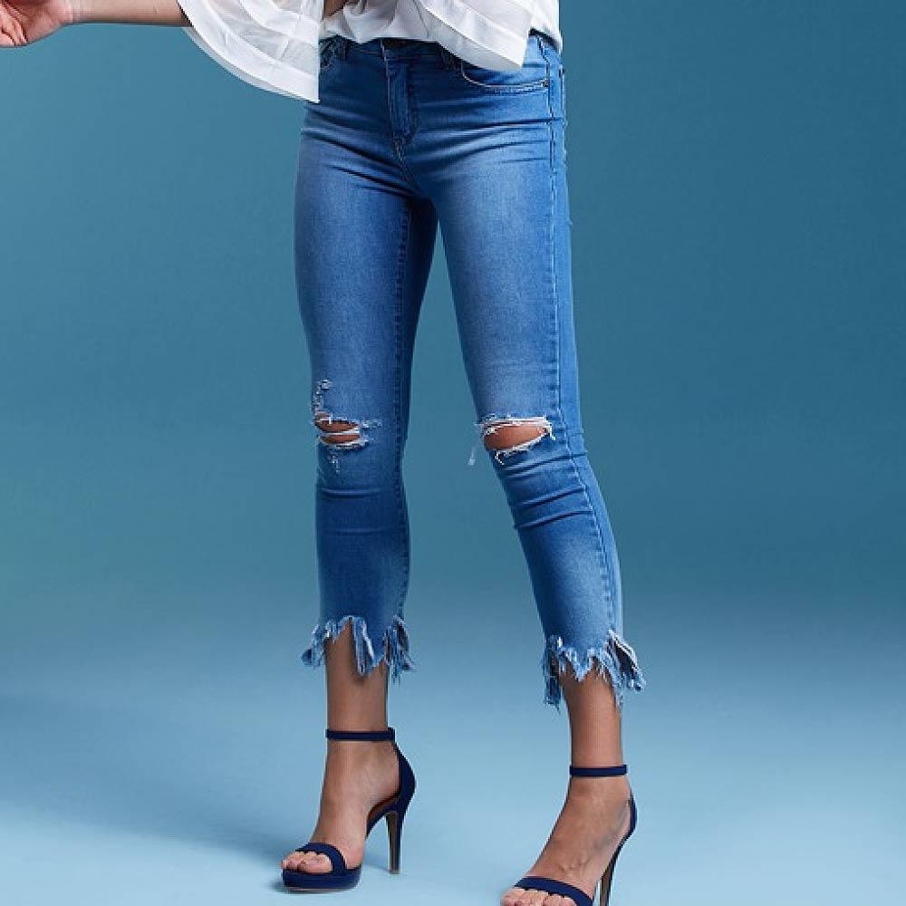 637ab43db Calça Jeans Skinny Cropped Barra Assimétrica Its & Co - Pole Modas