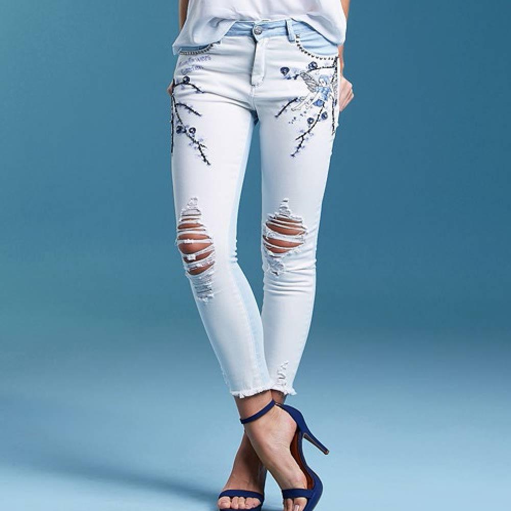 917d8c525 Calça Jeans Skinny Bordados em Pedraria Its & Co - Pole Modas