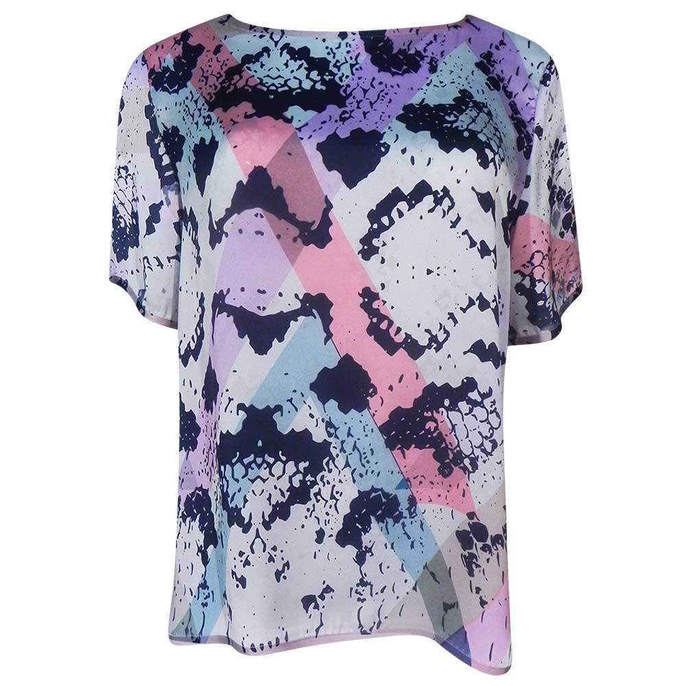 ec2c24d362 Blusa em Cetim Animal Print Color Lafee - Pole Modas