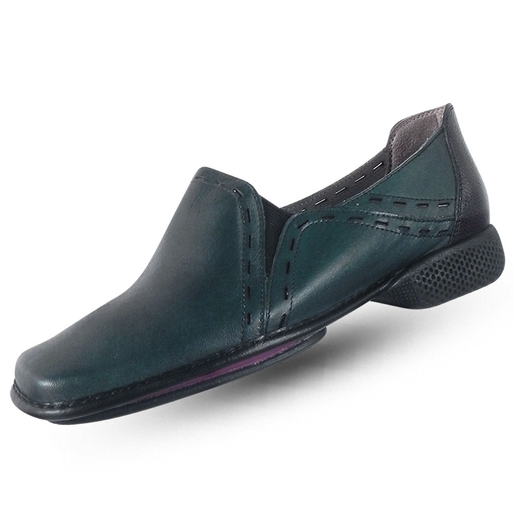 cc0151216 Sapato em Couro J.Gean Dual Confort Esmeralda - Pole Modas