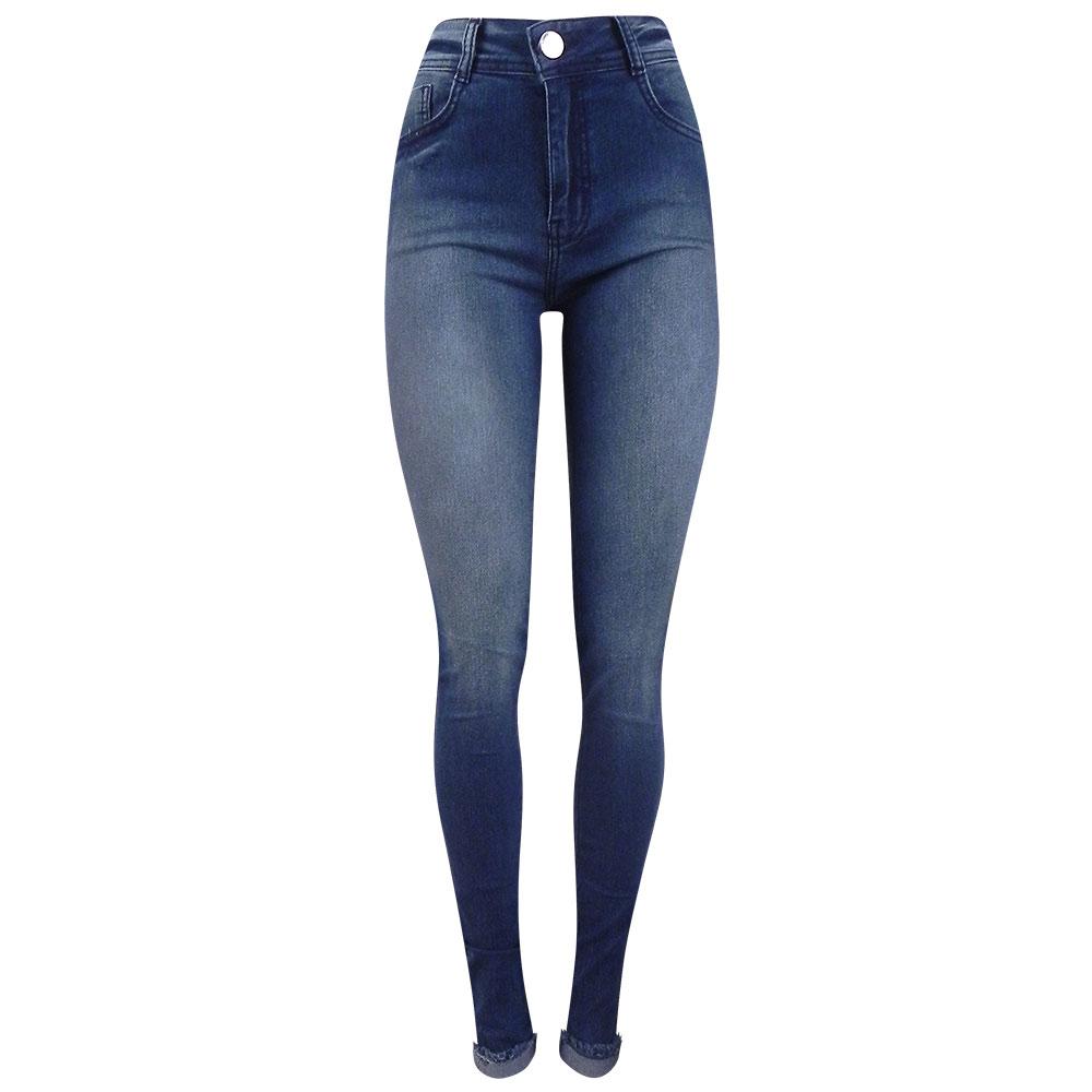 106886fdfd Calça Jeans Skinny Barra Desfiada Dobrada Camili Dimy - Pole Modas