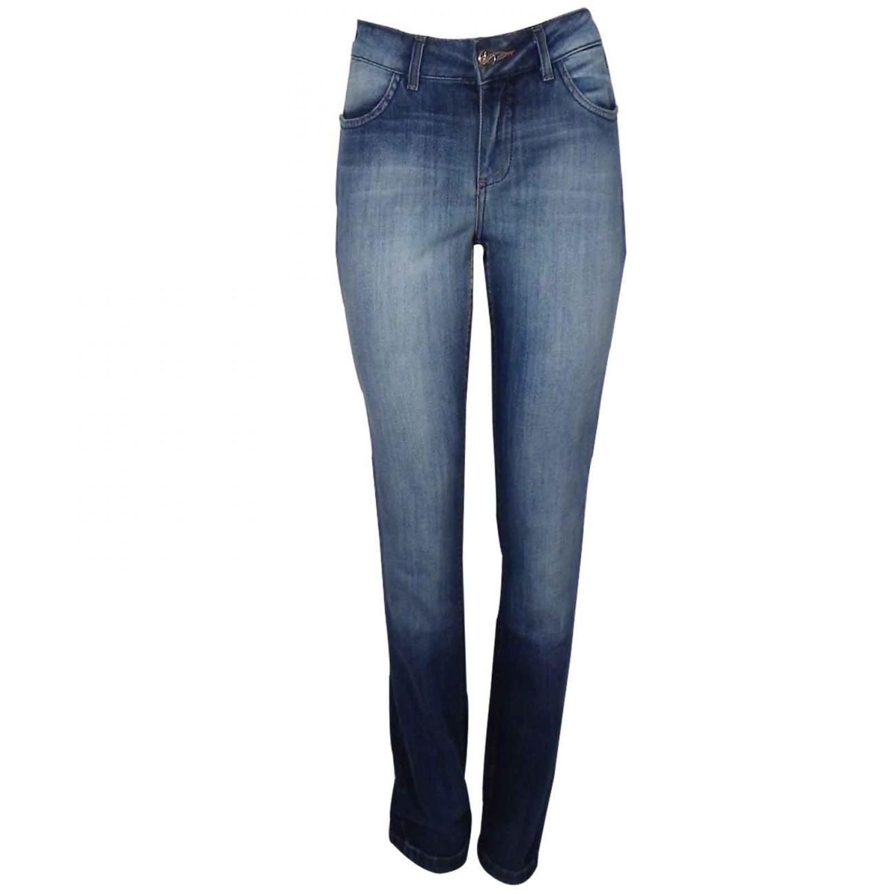 112e312b4 Calça Jeans Feminina Cintura Alta Chopper - Pole Modas