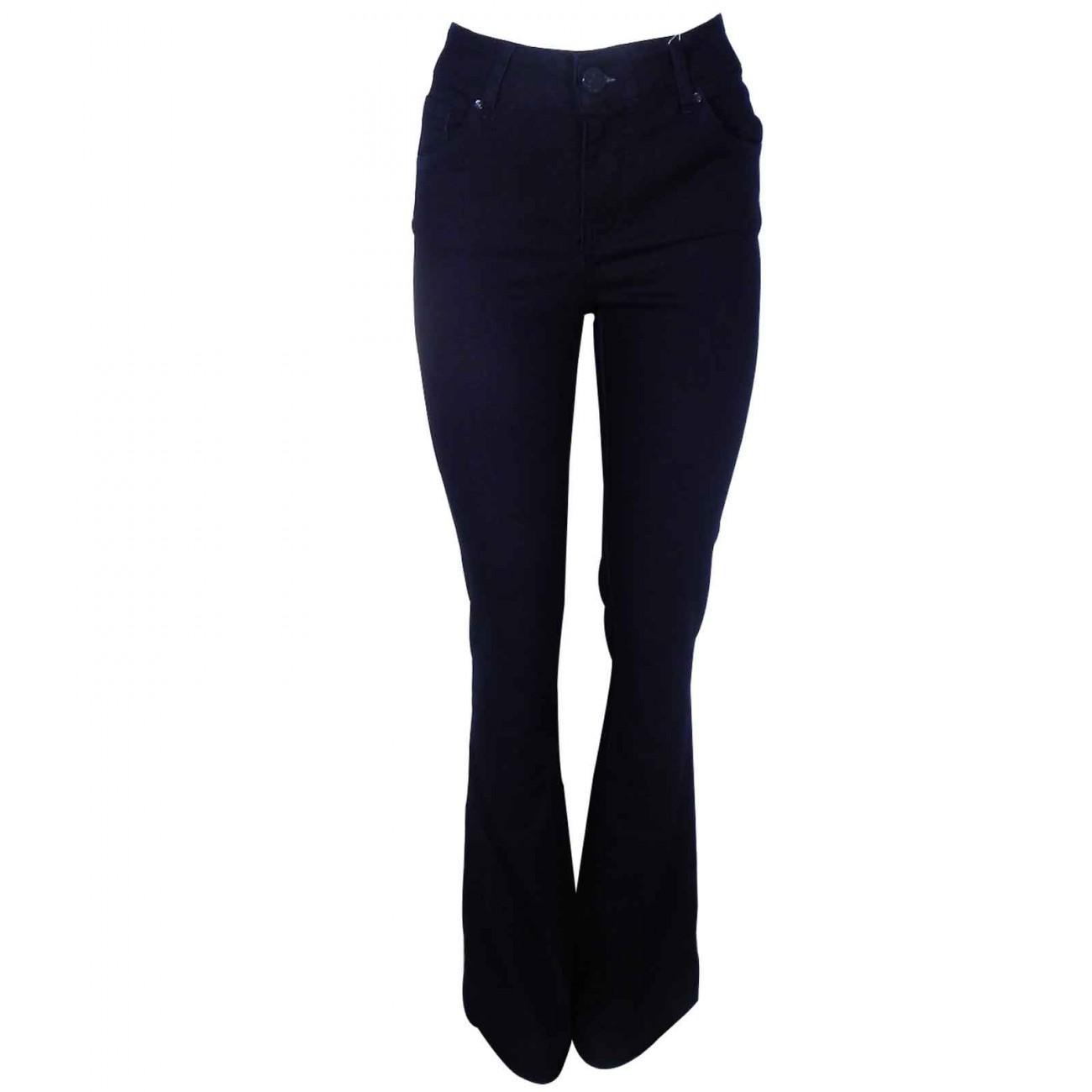 489a25c1e Calça Jeans Feminina Flare Cintura Alta Gatabakana - Pole Modas