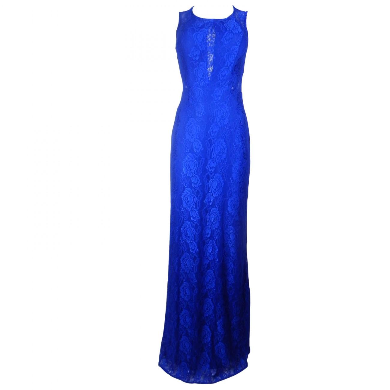 Vestido de festa cor azul bic