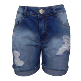 Bermuda Jeans Denim Destroyed Authoria