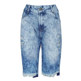 Bermuda Jeans Destroyed Dimy