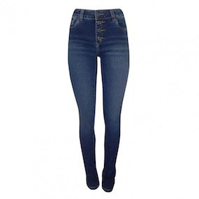 Calça Skinny Classic Fit Denim + Moletom Scalon Ana