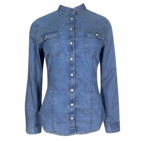 Camisa Jeans Vintage Pacific Blue - Jeans Claro