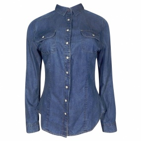 Camisa Jeans Vintage Pacific Blue - Jeans Escuro