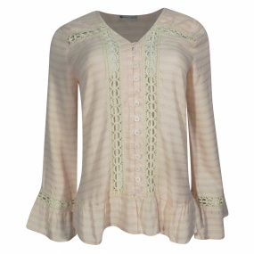 Blusa Babados e Renda Reserva Natural Rose