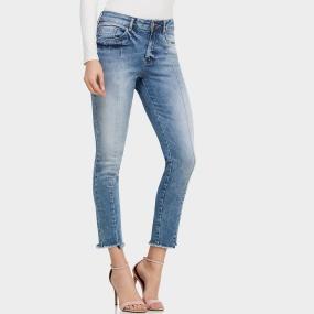 98163b895 Calça Jeans Skinny Barra Desfiada Lez a Lez Bali