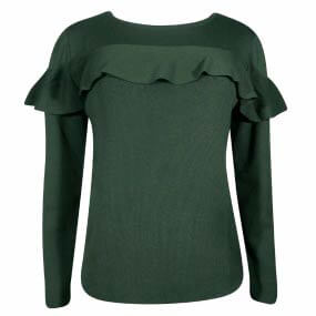 Blusa Tricot Babado Lucidez