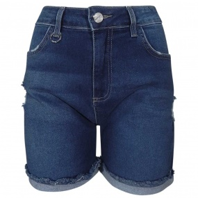 Shorts Jeans Barra Desfiada Chopper