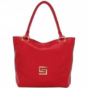 ba09f07c6 Bolsa Couro Grande Alça Trançada Smartbag Cor Vermelho