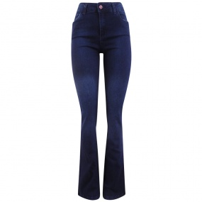 Calça Jeans Escura Boot Cut Chopper