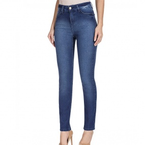 Calça Jeans Skinny Classic Fit Ana Deep Blue Scalon