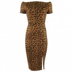 Vestido Animal Print Chess