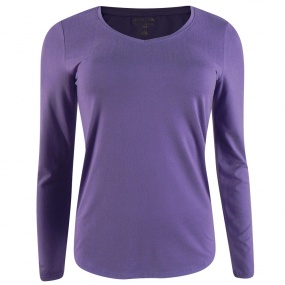 Blusa Manga Longa Decote V Viscolycra It's & Co Cor Lavanda