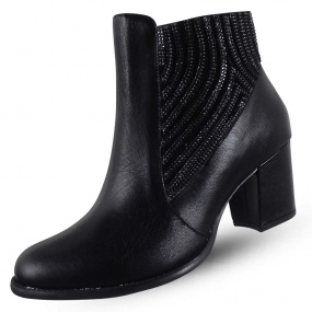 Ankle Boot Com Pedrarias Laterais Maithe Luxury Shoes