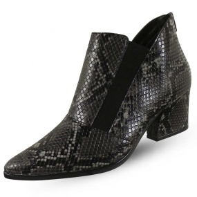 Ankle Boot Couro Python Maithe Luxury Shoes