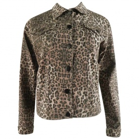 Jaqueta Jeans Animal Print Officio