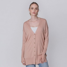 Cardigan Alongado Biamar Rose