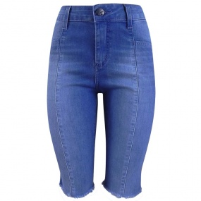 Bermuda Jeans Barra Desfiada It's & Co