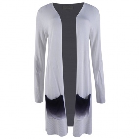Cardigan Alongado Viviane Furrier Off White