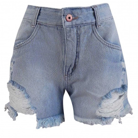 Short Jeans Claro Destroyed Lemier