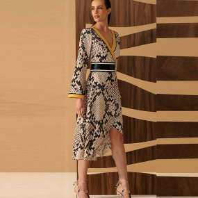 Vestido Longo Animal Print Cholet