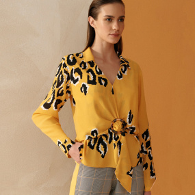 Blusa Fivela Animal Print Cholet