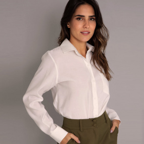 Camisa Viscose Kesses Off White