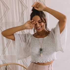 Blusa Cropped Tricot Haes  - Foto 1